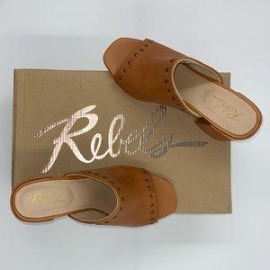 Rebels Gabi Tan Leather Mules